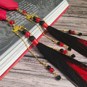 Image 3 - Ancient style other flower headband Hanfu embroidery hair rope men and women wiping ancient costume tassel hair accessories