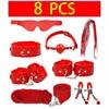 8 PCS Red