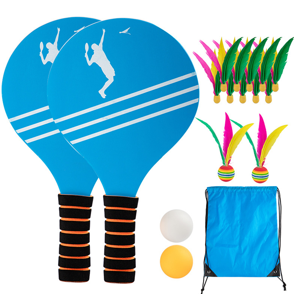 Badminton Outdoor Sports Training For Kids Fitness Tennis Beach Office Family Wooden Paddle Game Set Indoor Home Entertainment