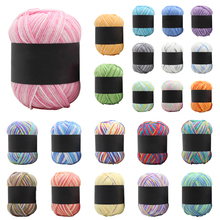 Baby Milk Cotton Yarn 50g Soft Scarf Hat Crochet Knitting Gradient Color Yarn for Household Mother Kitting Accessories