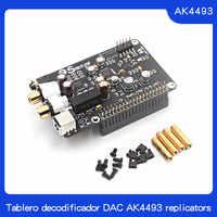 Tablero decodificador DAC AK4493 reproductor de red de transmisión Digital I2S 32BIT 384 KHZ DSD128 para Raspberry Pi 2B 3B 3B +