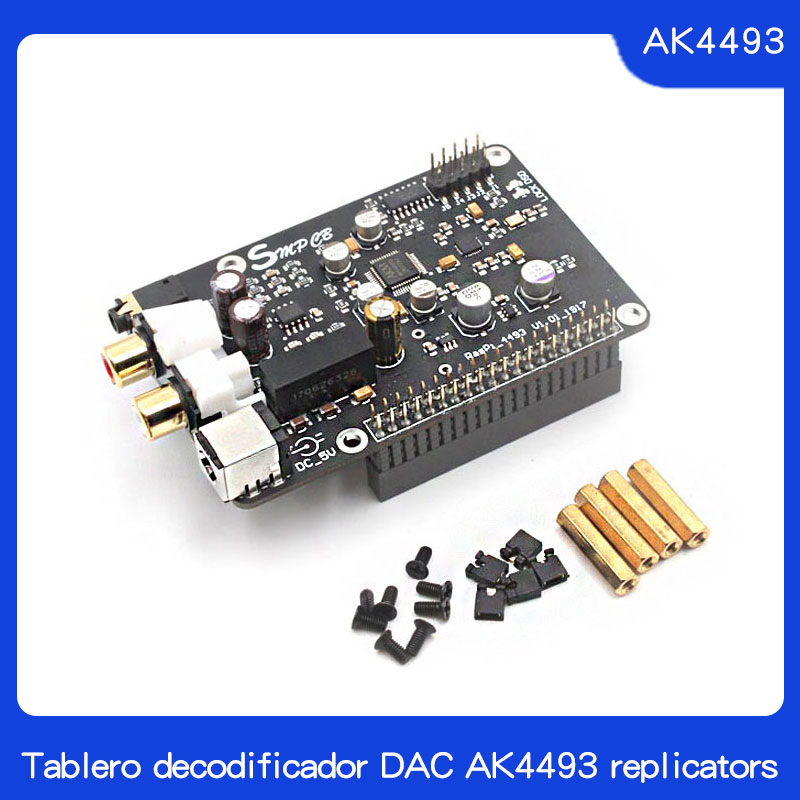 Tablero Decodificador DAC AK4493 Reproductor De Red De Transmisión Digital I2S 32BIT 384 KHZ DSD128 Para Raspberry Pi 2B 3B 3B +