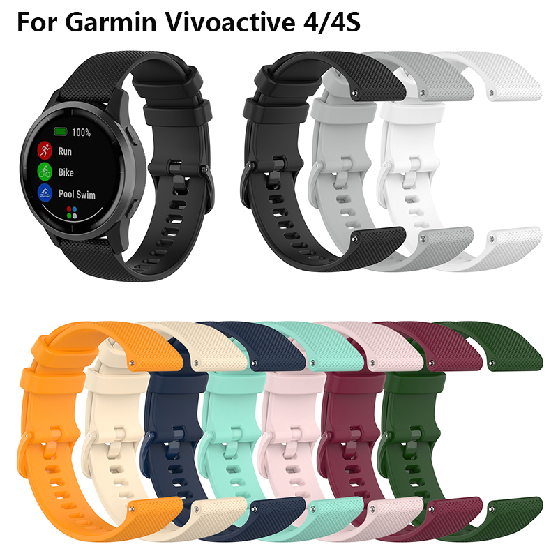 Silicone Band For Garmin Vivoactive 4/4S Watchband Smart Watch Replacement For Garmin Vivoactive 4S/4  Bracelet Wristbands Strap