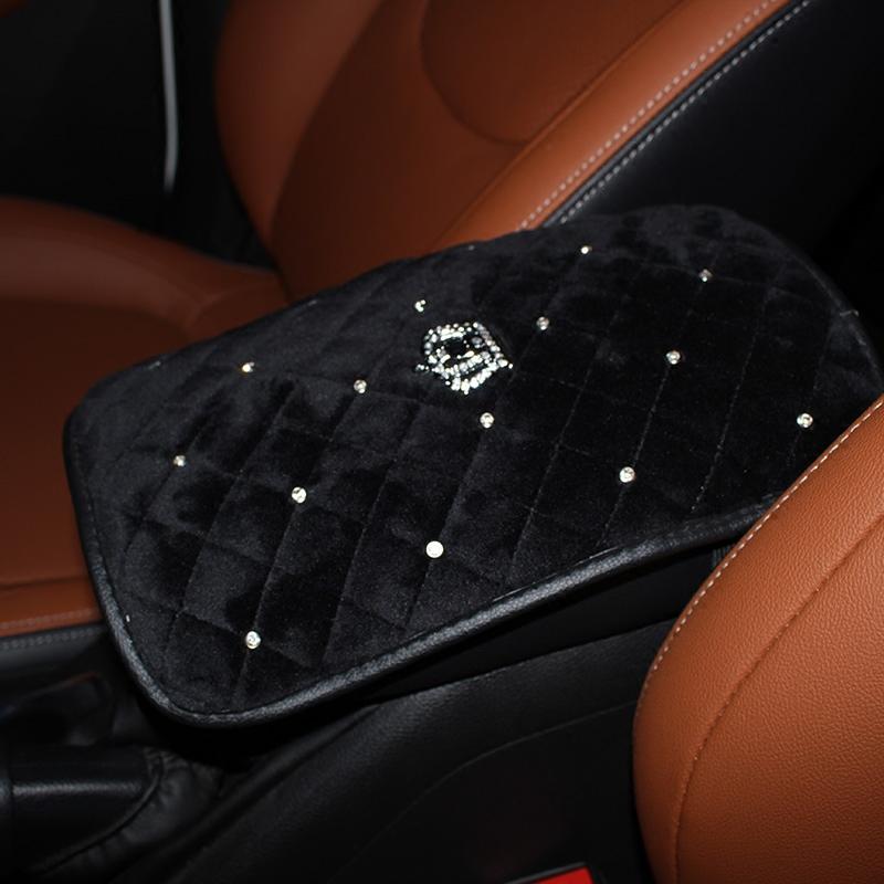 Winter-Crown-Crystal-Car-Seat-Headrest-Pillow-Plush-Auto-Neck-Waist-Support-Pillows-Gear-Handbrake-Cover-11