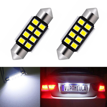 BOAOSI 2x Canbus No Error 36MM C5W LED License Plate Light For BMW E36 E39 E46 E90 E91 E92 E53 E60 E65 E71 image