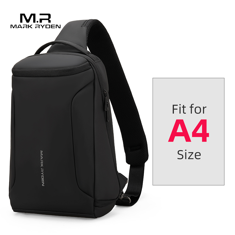 2019 New Men Crossbody Bag Fits 12inch IPad Shoulder Messenger Bags Male Waterproof USB Recharging Sling Bag
