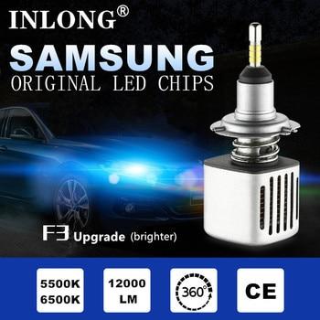 INLONG 2Pcs H1 LED Headlight Bulbs H7 H4 9005 9006 H11 H8 D2S D1S D3S Led Lamp SAMSUNG 11200LM Headlamp Fog Lights 5500K 6500K