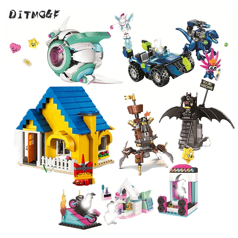 45009 Movies Series Sweet Mayhem's Systar Starship Building Blocks Bricks Toys Compatible With 70830 Movie 2