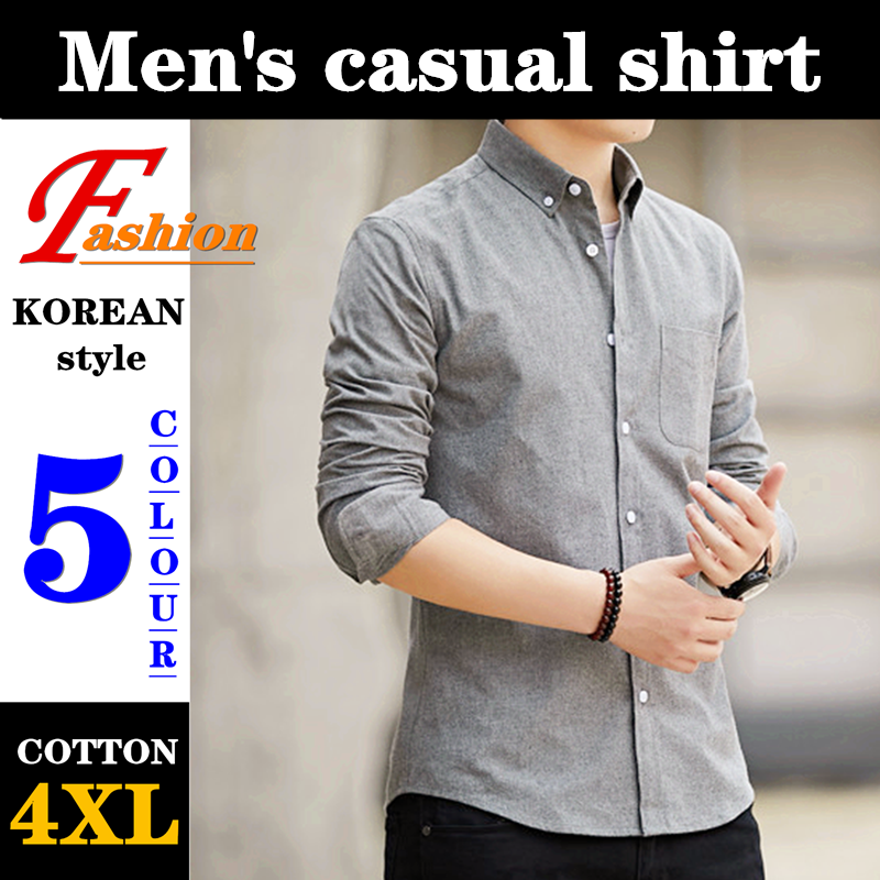 High-end Men's Casual Shirt Soft Breathable Comfortable Crease Proof Colorfast Anti-Pilling No-iron 60%Cotton Plus-size Fashion