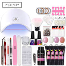 Kit de Gel Poly ensemble complet 36w UV lampe à LED pour Gel à ongles ensemble de vernis à ongles(China)