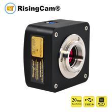 Microscope biologique vidéo numérique E3 20mp SONY imx147, capteur CMOS USB3.0
