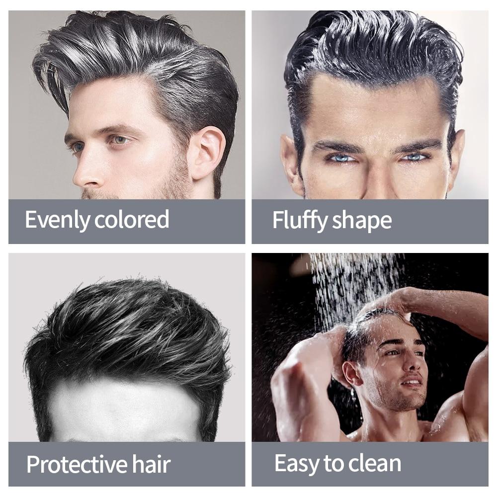 JVR 80g Temporary Hair Color Wax Men Women One-time DIY Hair Dye Molding Paste Dye Cream Hair Mud For Hair Coloring Styling Grey 4