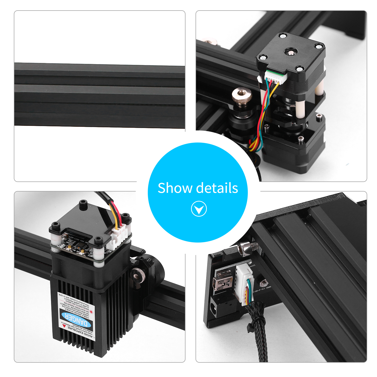 20W CNC Machine Made With Aluminum Alloy And Acrylic Material 2