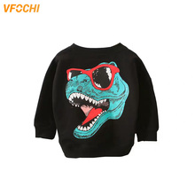 VFOCHI 2019 Girls Sweatshirts Autumn Dinosaur Pattern Children Long Sleeves Sweatshirt Kids Clothes Unisex Boy