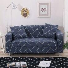 Hoge Elastische Sofa Covers Voor Woonkamer Geometrische Serie Stretch Sofa Kussenovertrekken L Vorm Hoekbank Fauteuil Couch Cover