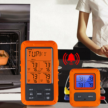 Meat Oven Timer Display Thermometer Alarm  Smoker Grill for supplier Digital Kitchen Cooking BBQ Tools Wireless Food Temperature digital probe food cooking timer kitchen bbq oven grill meat thermometer tool for bbq smoker grilling kitchen accessories