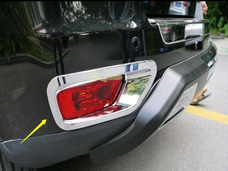 Car Styling Auto Accessories 2011-2015 For <font><b>Jeep</b></font> <font><b>Compass</b></font> <font><b>Chrome</b></font> Rear Tail Fog Lights Lamp Cover Trim ABS 2pcs image
