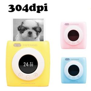 Image 1 - PAPERANG P2s כיס מיני 58mm נייד Bluetooth מדפסת מדפסת צילום HD תרמית תווית מכונה עם שעון מעורר לוח זמנים