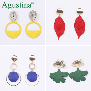 Agustina 2020 Fashion Earrings Jewelry Women Bohemian Metal Drop Earrings Cute Red Pink Blue Earrings Statement.jpg 350x350 - Agustina 2020 Fashion Earrings Jewelry Women Bohemian Metal Drop Earrings Cute Red/Pink/Blue Earrings Statement Korean Wholesale