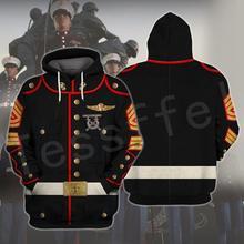 Tessffel America Marine Camo Skull Soldier Army Tracksuit NewFashion Pullover 3DPrint Unisex Zip/Hoodies/Sweatshirts/Jacket A-9