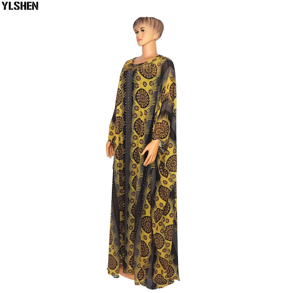 2 Piece Set African Print Dresses For Women Dashiki Long Maxi Dress Plus Size Clothing Traditional African Clothes Fairy Dress 03