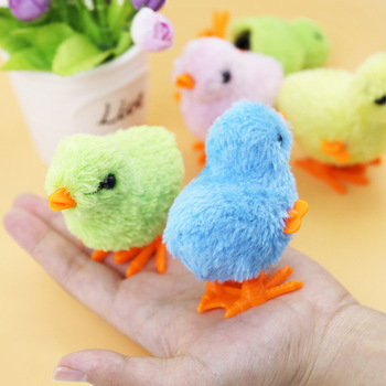 Simulation chick toy clockwork chick plush toy night market stall hot sale jumping chicken clockwork children educational toys недорого
