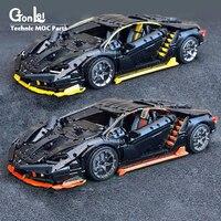 NEW Technic moc 39933 Lamborghin 100 year Centenario 1:8 hypercar Super Racing Car Fit Lepinings Model Building Blocks Toy Gift