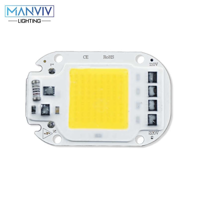 LED Lamp COB Chip 20W 30W 50W Smart IC 220V IP65 Integrated Driver Easy To DIY For Floodlight Spotlight Full Spectrum LED Beads