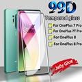 99D полное покрытие прозрачный желеобразный клей Горячая изогнутая поверхность закаленное стекло для OnePlus 8 7 7T Pro 6 6 защитная пленка для экран...