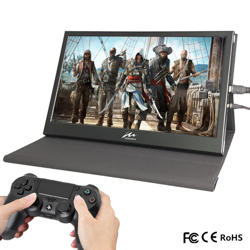 "13.3"" 2K Portable Mini Laptop Monitor PC 1920x1080 HDMI Leather Stand PS3 4 Xbox360 1080P LCD LED Display Raspberry Pi Touch-in LCD Monitors from Computer & Office"