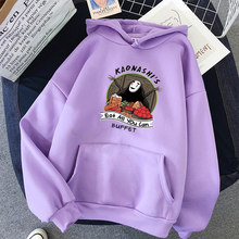Impressão anime oversized moletom feminino kawaii hoodies para topos femininos com capuz manga cheia pullovers harajuku streetwear roupas