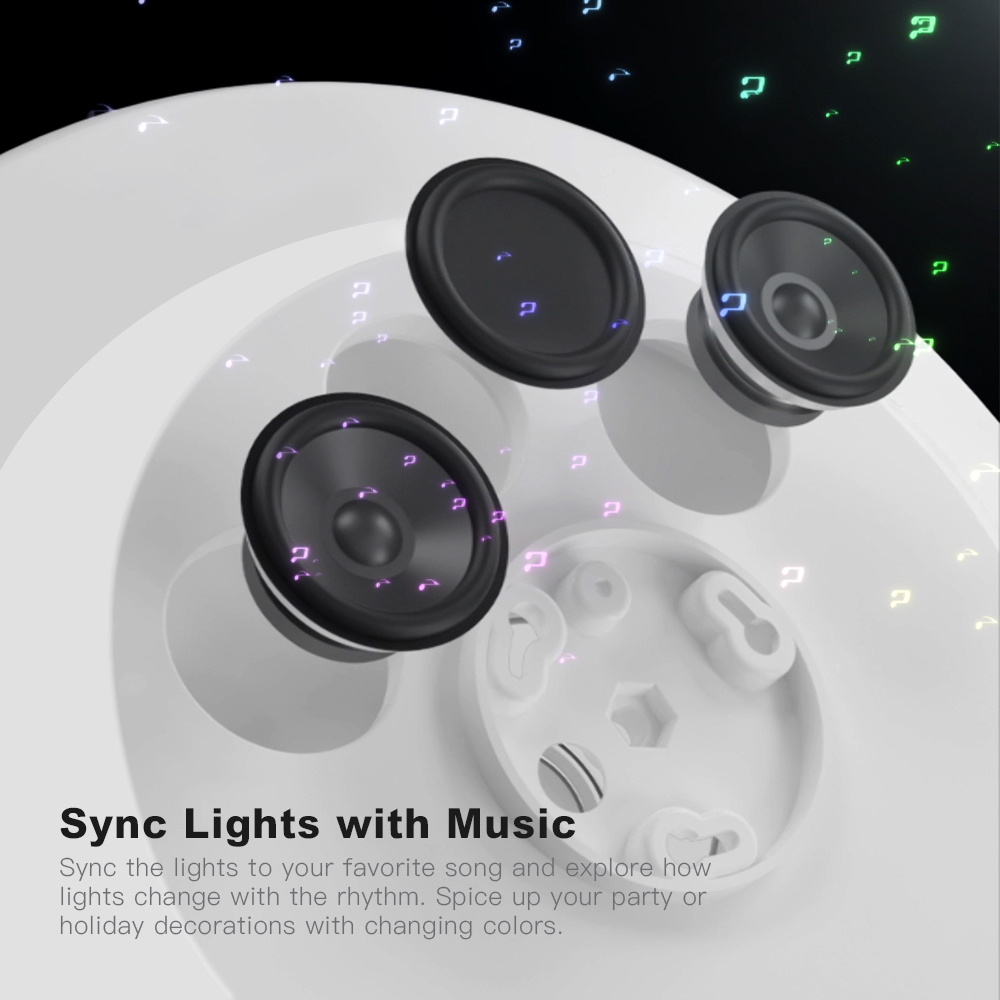 OFFDARKS Smart LED Ceiling Lamp 36W / 48W RGB Dimming APP Control Surface Mount Ceiling Light Bluetooth Speaker - 5