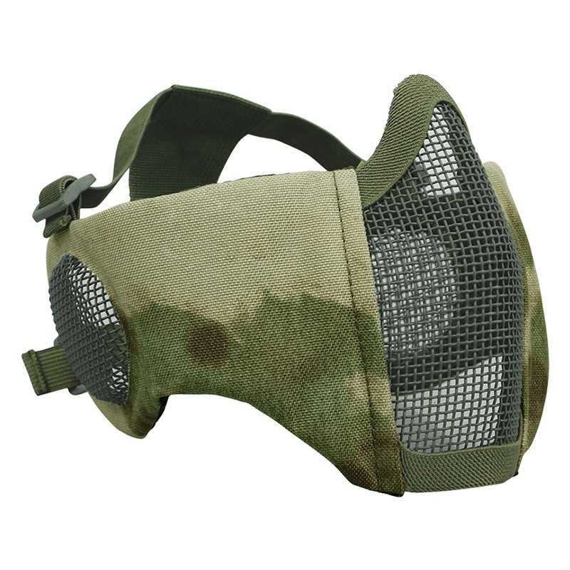 Outdoor Mesh Tactical Field Mask Halloween Party CS Wargame Army Hunting Cycling Protective Airsoft Paintball Half Face Masks