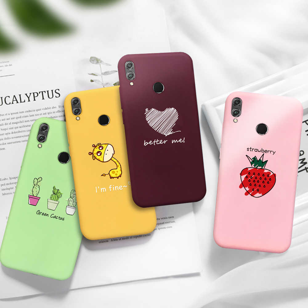 Pattern Candy Color Phone Case For Huawei P10 P20 P30 Lite Pro Soft TPU Back Cover Coque For huawei P Smart 2019 Silicon Cases