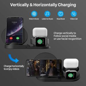 Image 3 - 10W Draadloze Oplader Station Usb C 3 In 1 Fast Charging Stand Voor Apple Horloge 5 4 3 2 1Airpods Pro Dock Voor Iphone 11 Xs Xr X 8