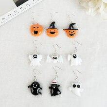1 пара индивидуальных висячих сережек в виде тыквы на Хэллоуин