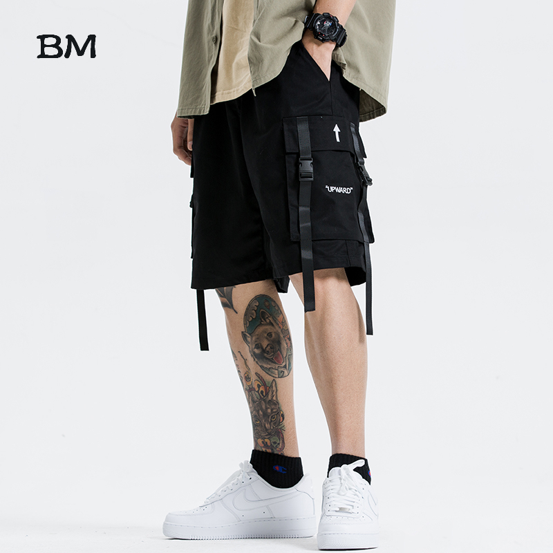 Summer Cargo Pants Men Fashion Korean Style Clothes Kpop Techwear Cargo Shorts 2020 Hip Hop Clothing Streetwear Harajuku Shorts