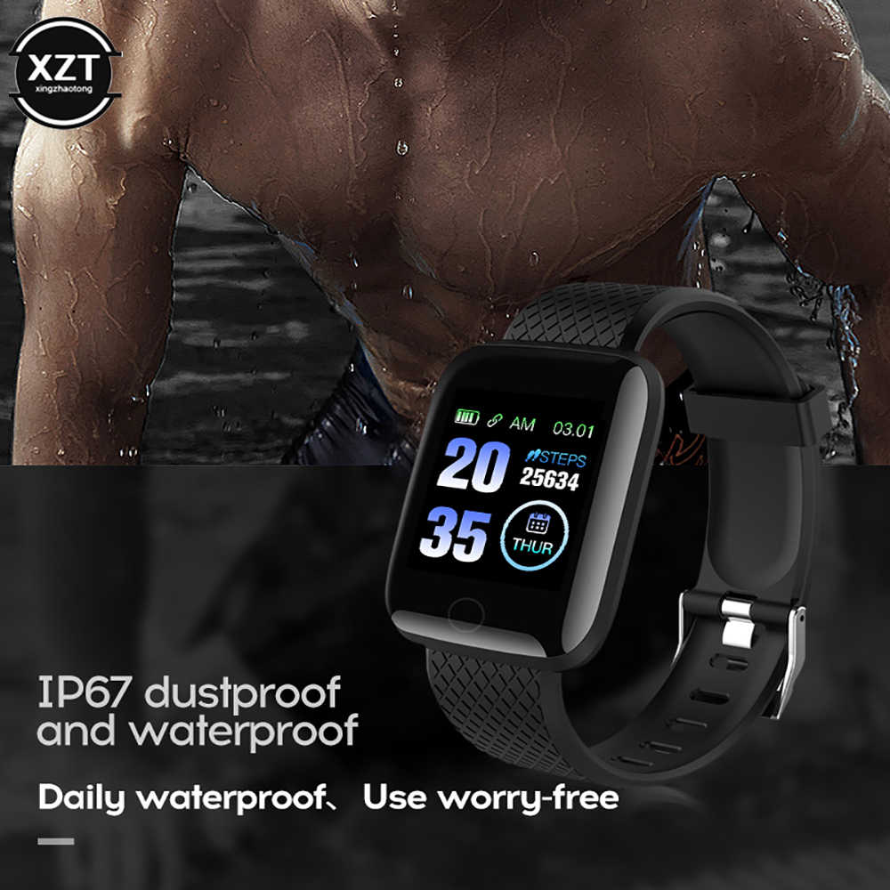 Instock SmartWatch 116 زائد معصمه اللياقة البدنية ضغط الدم معدل ضربات القلب أندرويد عداد الخطى D13 مقاوم للماء الرياضة سوار ساعة ذكية