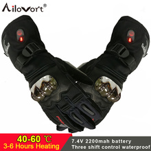 Motorcycle-Gloves Rechargeable-Battery Heated Electric Cycling Biking-Sports Ski Riding-Racing