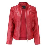 Модная кожаная женская куртка на молнии из искусственной кожи высокого качества 1