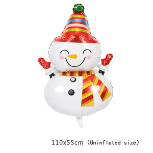 Image 5 - חתיכה החג שמח חדש שנה מסיבת חג המולד מסיבת רדיד בלון סנטה קלאוס עץ חג המולד חמוד איש שלג בצורת בלון דקור