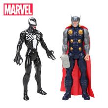 Zestaw 2 Marvel Venom Titan Hero Series Venom Thor rysunek 30cm Marvel Avengers Spider-man figurka-model kolekcjonerski lalki tanie tanio Hasbro Unisex not suit for under 3 years Zapas rzeczy Wyroby gotowe Other 12-15 lat 8 lat 6 lat Dorośli 3 lat 8-11 lat