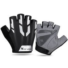Cycling-Gloves Sport West-Biking Wear-Resistant Touch-Screen Reflective Fitness Breathable