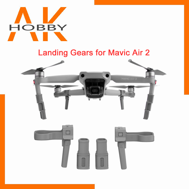Sunnylife Extended Landing Gear For DJI Mavic Air 2 Heightening Foldable Support Leg Protector For Mavic Air 2 Drone Accessories