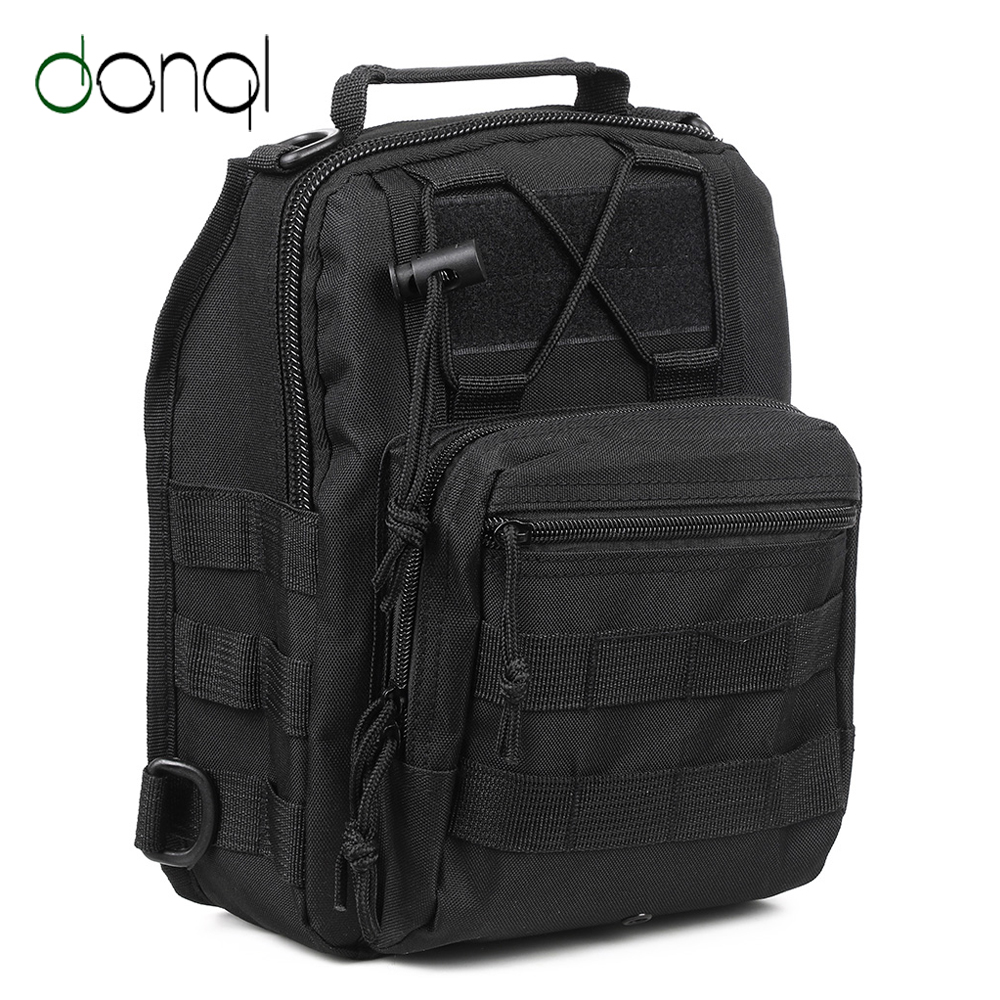 DONQL Outdoor Fishing Bag Waterproof Climbing Military Backpack Shoulder Multifunctional Camping Daypack Camouflage Fishing Bag