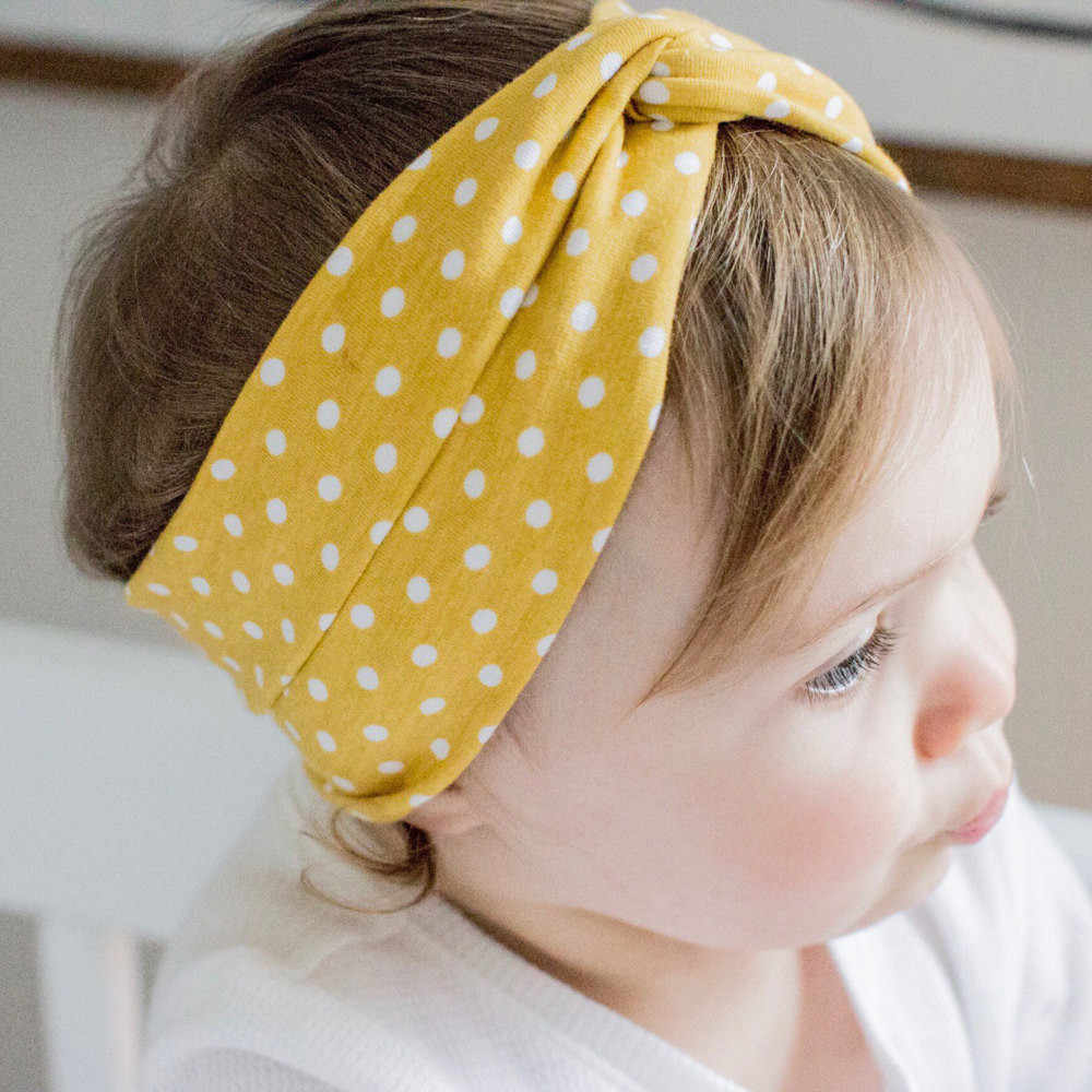 Cute Baby Toddler Infant Headband Dot Printing Stretch Hairband Headwear hair accessoriesbaby headband