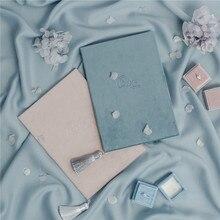 Романтическая свадебная книга с кисточками, свадебная книга с надписью «Ours Vows», высококачественные бархатные открытки с надписью «Vow», подарок на свадьбу, Flatlays Prop