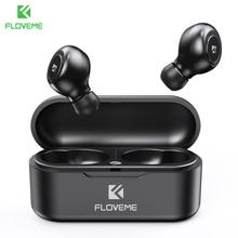 FLOVEME TWS 5.0 אלחוטי אוזניות Bluetooth אוזניות אוזניות עבור טלפון חכם אוזניות סטריאו קול אוזניות כפולה