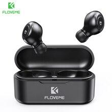 Floveme tws 5.0 fone de ouvido sem fio bluetooth fones de ouvido para o telefone inteligente fones de som estéreo dupla