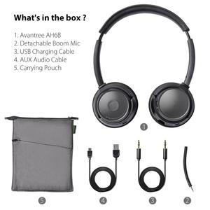 Image 5 - Avantree AH6B 무선 헤드셋 (마이크 포함) 컴퓨터 PC 노트북, 핸드폰, 블루투스 이어폰 형 헤드폰 (HiFi 음악 용)
